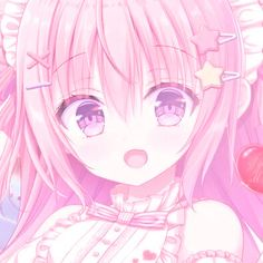 Kawaii Art, Kawaii Anime, Anime Girl Pink, Pink Themes, Cute Profile Pictures, Anime Fairy, Happy Summer, I Icon, Cute Images