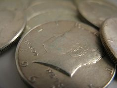 Kennedy half dollars made before 1970 are silver half dollars, so they are quite valuable. photo by frankieleon on Flickr