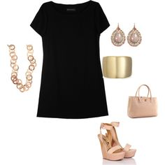simple and summery! Love Black with nude