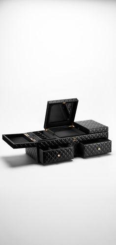 CHANEL Large Jewellery Box Lambskin 14x56x23.5cm