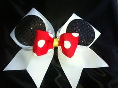 Minnie Mouse Cheer  Bow. $10.00, via Etsy. Need this for our Disney World Comp!!