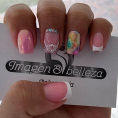 Cute Nails, My Nails, Beauty Nails, Hair Beauty, Nail Decorations, Nail Designs, Nail Polish, Nail Art, Lace Nails