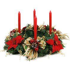 Proyectos  Corona de adviento con nochebuenas rojas Christmas Advent Wreath, Christmas Flowers, Christmas Candles, Outdoor Christmas, Christmas Time, Christmas Crafts, Merry Christmas, Christmas Decorations, Xmas