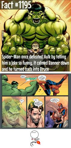 Saw a post looking for the joke. Here it is. Spider-man vs Hulk.