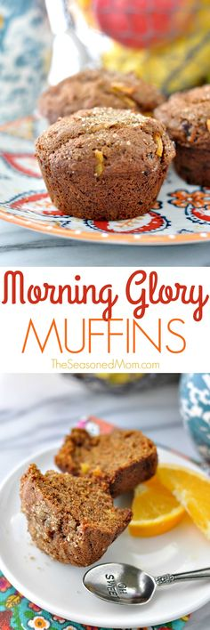 These whole wheat Morning Glory Muffins are an easy, make-ahead, clean eating breakfast or snack that's just bursting with fresh flavors and good-for-you ingredients!