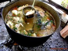 уха на рыбалке, рецепт ухи из карпа, как правильно готовить уху