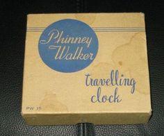 Vintage Large Travel Alarm Clock by Phinney Walker in Original Box from vintagevault on Ruby Lane