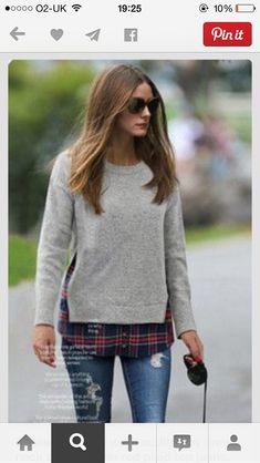 wool jumper and check shirt