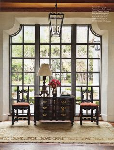 Vintage Chairs and Chest < New Home with Old World Style - Coastal Living Old World Style, Old World Charm, Beautiful Interiors, Beautiful Homes, Interior Decorating, Interior Design, Vintage Chairs, Windows And Doors, Steel Windows
