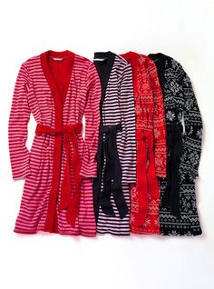short thermal robe from vs. perfect for exiting shower!! ohh the pink and black one is great!
