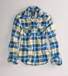 AE Favorite Flannel Shirt $39.50 I've always loved this color combo.