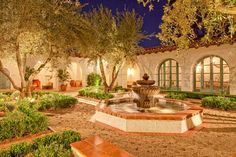 Lovely, peaceful courtyard.-Ford Estate Spanish Colonial Ojai (4)