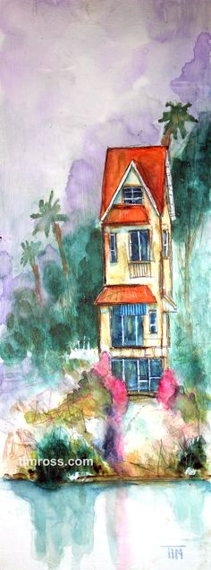"A watercolor painting by Tim Ross.  ""High on Hawaii.""   www.timross.com  Thanks to artist John Lovett for the inspiration!"