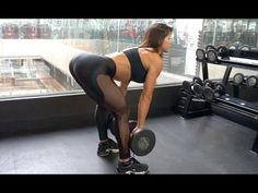 MICHELLE LEWIN Workout: Booty Blaster - Free Weights vs Machines - YouTube