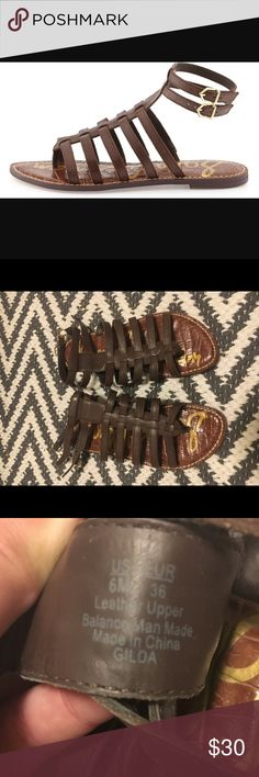 Sam Edelman Gilda Gladiator Sandals ▪️Sam Edelman Gilda Gladiator Sandals. Leather upper. Women's size 6 but runs about a half size small. In great condition.▪️ Sam Edelman Shoes Sandals