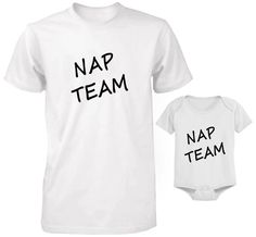 1be23ef09 DAD ANS SON FATHER AND BABY SET DAD AND SON T-SHIRT AND BODYSUIT SET NAP  TEAM | eBay