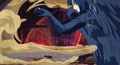 Hauru no ogoku shiro (Howl's Moving Castle) - 2004 Howl's Moving Castle, Studio Ghibli Art, Studio Ghibli Movies, Totoro, Personajes Studio Ghibli, Howl Pendragon, Howl And Sophie, Japanese Animated Movies, Japon Illustration