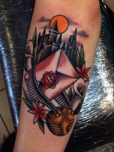 Tatuaje tradicional americano harry potter 40 Ideas rnrnSource by carolinatbarcia Nerdy Tattoos, Creative Tattoos, Disney Tattoos, Body Art Tattoos, Small Tattoos, Sleeve Tattoos, Tattoos For Guys, Bow Tattoos, Friend Tattoos