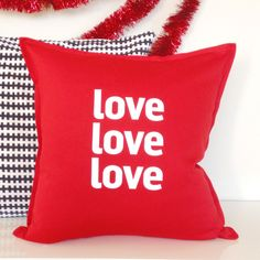 Love Type Pillow Cover   dotandbo.com
