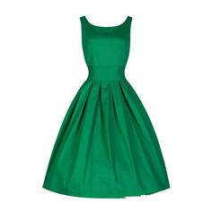 Rotita Round Neck Green Pleated Vintage A Line Dress ($17) ❤ liked on Polyvore featuring dresses, short dresses, vestidos, green, knee length cocktail dresses, short green dress, short sleeve dress, vintage a line dress and knee-length dresses