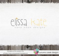 Love the simplicity of this one.   Photography Logo Premade Logo Design Flower Logo by autumnscreek, $30.00