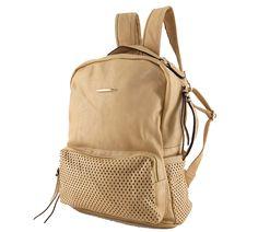 f299a78e611b0 Mochila feminina de couro ecológico, bege. Para carregar notebook,  cadernos… Mochila Feminina
