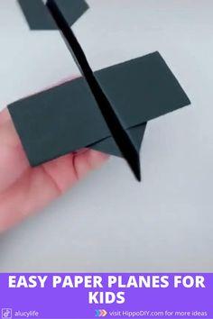 Paper Folding Crafts, Paper Mache Crafts, Paper Crafts Origami, Paper Crafts For Kids, Diy Paper, Diy For Kids, Origami Paper Plane, Instruções Origami, Make A Paper Airplane