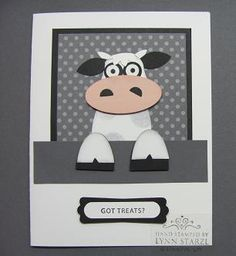 Cow punch art...Stamping with Lynn