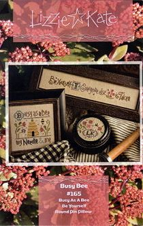 Lizzie Kate Busy Bee Counted cross stitch pattern chart with charms