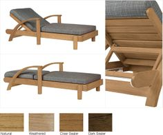 soft-breeze-lounge-chair : strathwood basics hardwood chaise lounge - Sectionals, Sofas & Couches