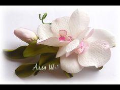 МК Орхидея из фоамирана /How to make Foam Flower orchid , DIY, Tutorial Foam - YouTube