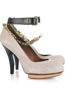 Lanvin Sunbeam Snakeskin Pumps as seen on Blake Lively