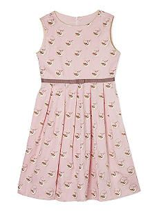 RACHEL RILEY Fawn print sleeveless dress 4-10 years