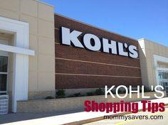 Tips for saving money at Kohl's #kohls