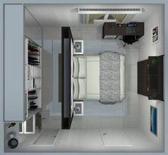 42 Trendy Master Bedroom Closet Behind Bed Decorating Ideas Bedroom Closet Design, Master Bedroom Closet, Bedroom Wardrobe, Closet Designs, Home Bedroom, Master Bedrooms, Closet Behind Bed, Walk In Closet, Working Wall
