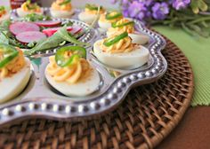 | by Renee's Kitchen Adventures - great way to kick up deviled eggs a notch! Deviled eggs are a must at all holiday celebrations!