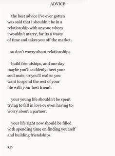 I've always felt this way about relationships.