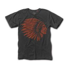 Last Match Co T Shirt - Indian Head - THE CAFE RACER