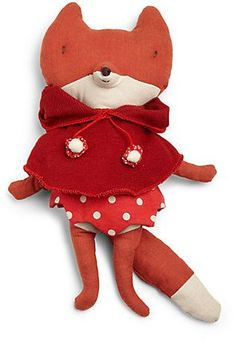 Maileg Plush Red Hood Fox #plush #doll #fox