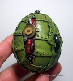 Steampunk dragon egg. My first attempt at steampunk. Very fun to make and gave me a chance to use some of my watch parts. Polymer clay over a hollow chicken egg.| Flickr - Photo Sharing!