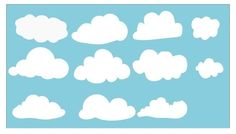 Childrens Vinyl Wall Decal 4 LARGE Clouds of Your by KidsCorner, $21.00