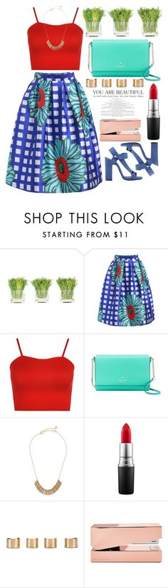 """""""Untitled #4918"""" by prettyorchid22 ❤ liked on Polyvore featuring NDI, WearAll, Kate Spade, Lydell NYC, Pierre Hardy, MAC Cosmetics, Maison Margiela and Tom Dixon"""