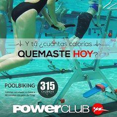 Ya conoces el #PoolBiking solo en @powerclubpanama completamente GRATIS  Y Tu ? Cuantas Calorias Quemaste Hoy ?