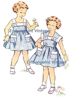 Plus Size (or any size) Vintage 1950s Playsuit Pattern - PDF - Pattern No 157 158 Gayle. $9.00, via Etsy.