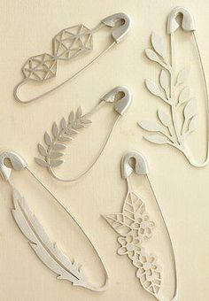 Safety Pin Brooches by Marta Lugo Jewels on Etsy