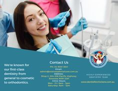 We're known for our first-class dentistry from general to cosmetic to orthodontics.