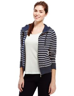 Cotton Rich Hooded Striped Sweatshirt | M&S