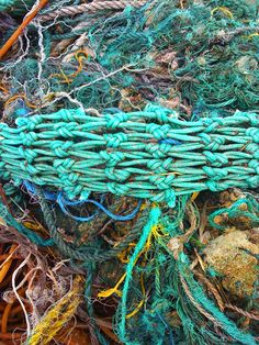 These are fishing nets...I can't wait to use these colors. Maybe I am just missing summer