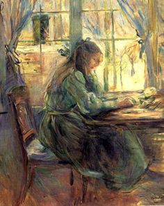 2a63acd3e9c1 bofransson  Girl Writing Berthe Morisot - 1891 made me think of you.