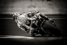 World Champion Moto GP rider Valentino Rossi exiting a corner.  Epic...